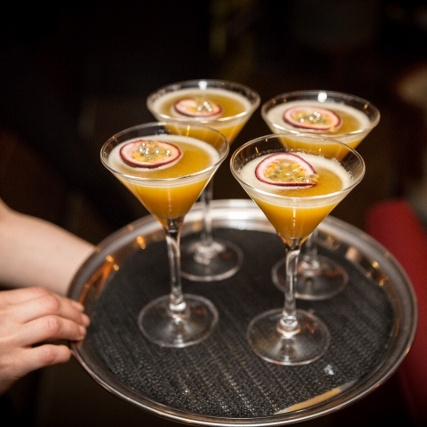 The Benares signature Passion Fruit Chutney Martini