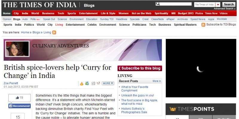 Times of India Blog